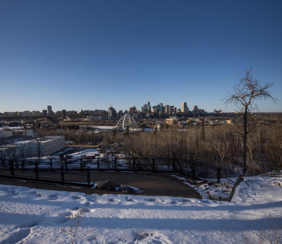 The Edmonton skyline in Edmonton, Alberta, on April 5, 2018. (Anna Spoerre | @annaspoerre)