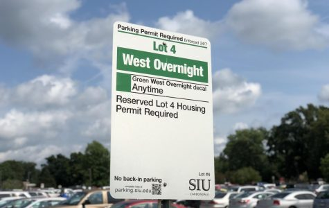 University parking division changed Lot 4 to now require a green decal for parking. (Hannah Smith | @H_lou_s)