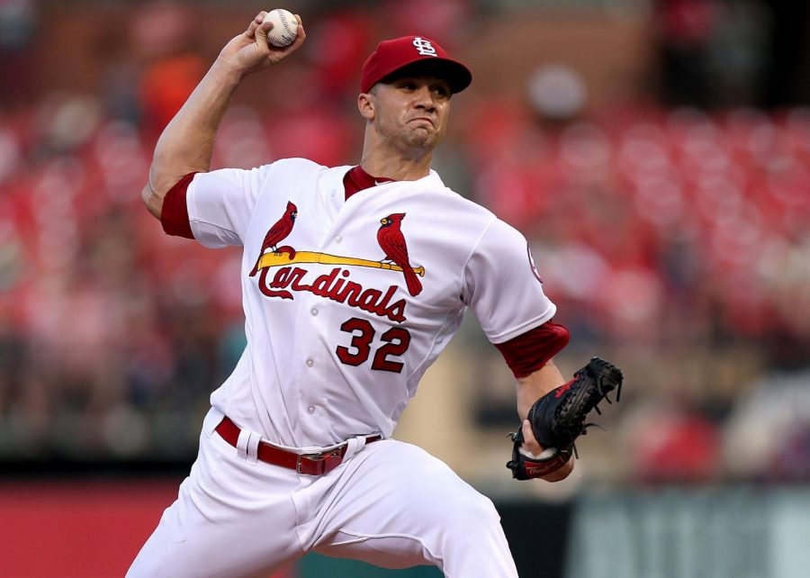 St. Louis Cardinals pitcher Jack Flaherty throws in the first inning against the Milwaukee Brewers on Aug. 17, 2018, at the Busch Stadium in St. Louis, MO. (Christian Gooden | St. Louis Post-Dispatch)