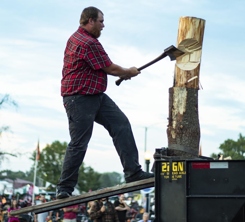 James+Judge+cuts+down+a+log+while+balancing+on+a+springboard+during+the+Lumberjack+Challange%2C+Friday%2C+Aug.+31%2C+2018%2C+at+the+Du+Quoin+State+Fair.+%28Nick+Knappenburger+%7C+%40DeKnappenburger%29