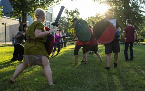 Medieval Combat Club, a recognized sport club at SIU, is more than LARPing