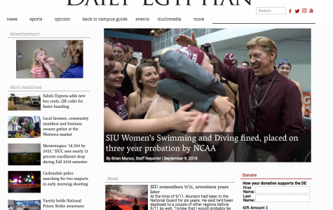 Daily Egyptian named finalist in top online college newspaper competition