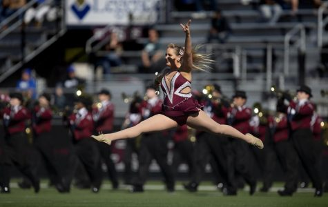 SIU feature twirler Jazmin Randazzo dazzles at halftime shows