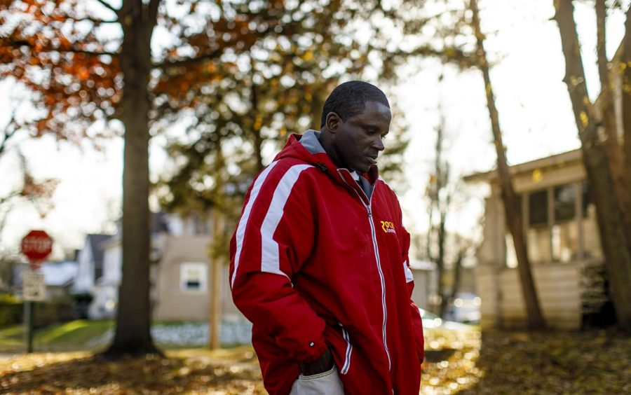 Anthony Gay walks down his street Nov. 11, 2018 in Rock Island. He spent in 22 years in solitary confinement.