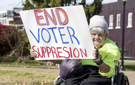 Photo of the day: Stand for voter awareness