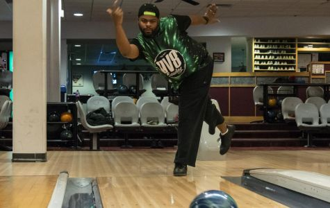 Dwayne Moore Jr., first person to bowl two perfect games in the Student Center