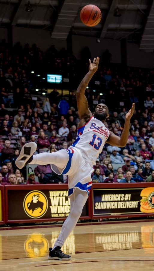 Southern Illinois senior guard Sean Lloyd Jr. shoots a basket on Wednesday, December 12, 2018 during the first half of the Salukis matchup against the Murray State Racers.