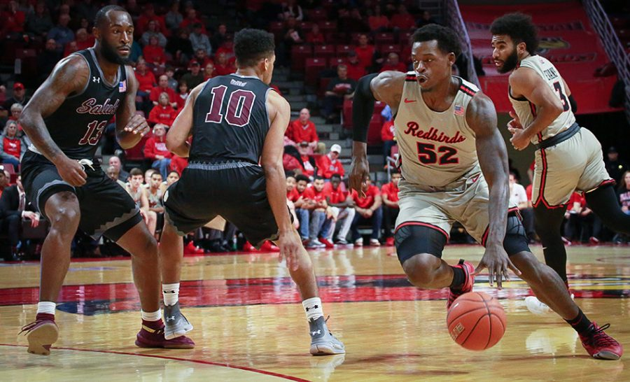 Illinois+State+forward+Milik+Yarbrough+drives+in+the+paint+in+Illinois+State%27s+59-58+win+over+the+Salukis+on+Tuesday%2C+Jan.+15%2C+2019%2C+at+Redbird+Arena+in+Normal%2C+Illinois.