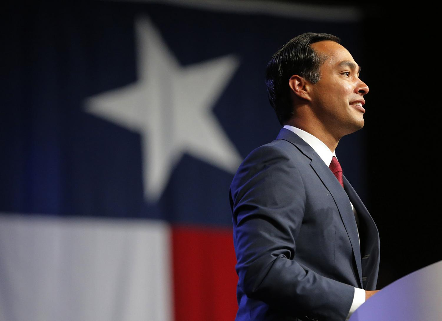 Julian Castro, former Secretary of Housing and Urban Development, speaks at the Texas Democratic Convention, in Fort Worth, Texas, on June 22, 2018.