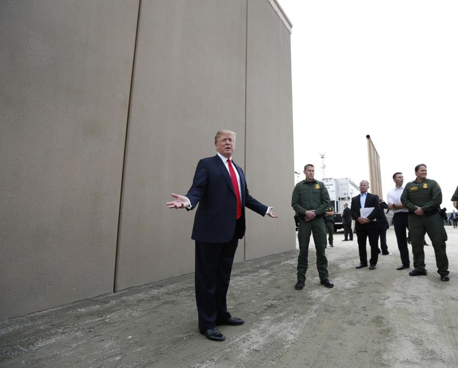 President+Donald+Trump+tours+the+border+wall+prototypes+near+the+Otay+Mesa+Port+of+Entry+in+San+Diego+County%2C+Calif.%2C+on+March+13%2C+2018.