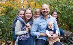 Joel Sambursky and his family.