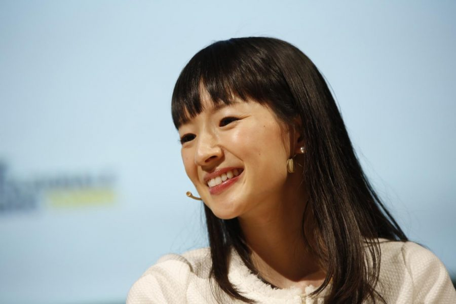 June 30, 2017 - Italia - Japanese writer Marie Kondo during her speech at the XXIX International Book Fair on May 14, 2016 in Turin, Italy.
