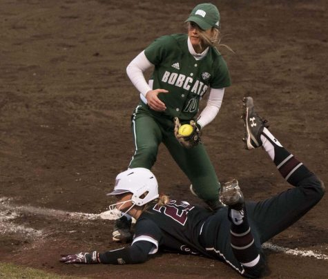 Softball's series opener against Bulldogs anything but a dog fight