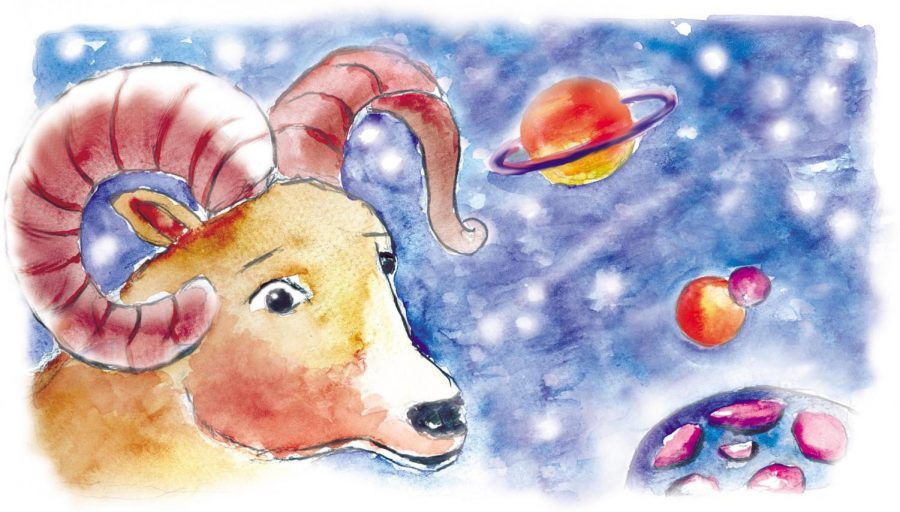 Aries, the ram, planets and moons. (Jacqueline Cook/Fort Worth Star-Telegram/MCT)
