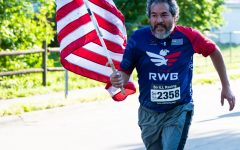 Photo of the day: Running with red, white and blue