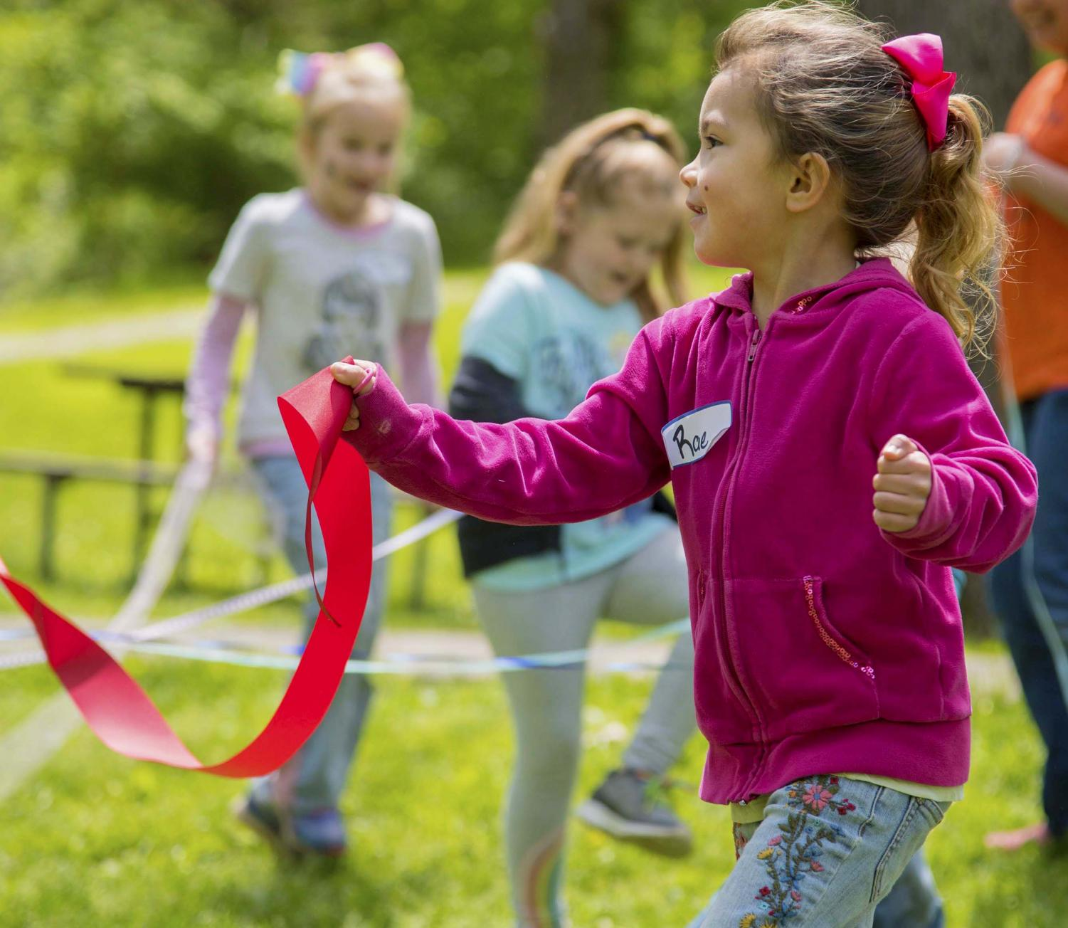 Rae Gogan-Thomas from West Frankfort twirls her ribbon around during the annual SIPA Beltane Ritual at Giant City State Park April 28, 2019. The kids had their own Maypole to celebrate the season of growth.