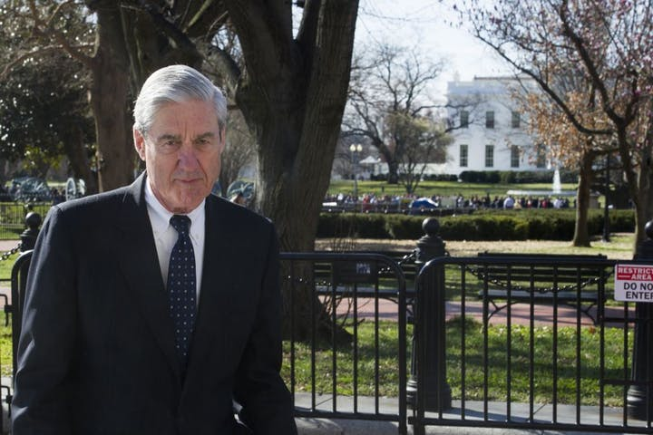 Special+counsel+Robert+Mueller+walked+past+the+White+House+on+Sunday+after+attending+St.+John%27s+Episcopal+Church+for+morning+services.+Mueller+closed+his+long+and+contentious+Russia+investigation+last+week%2C+delivering+a+report+to+Attorney+General+William+Barr.+On+Sunday%2C+Barr+sent+Congress+a+four-page+summary+of+principal+findings.