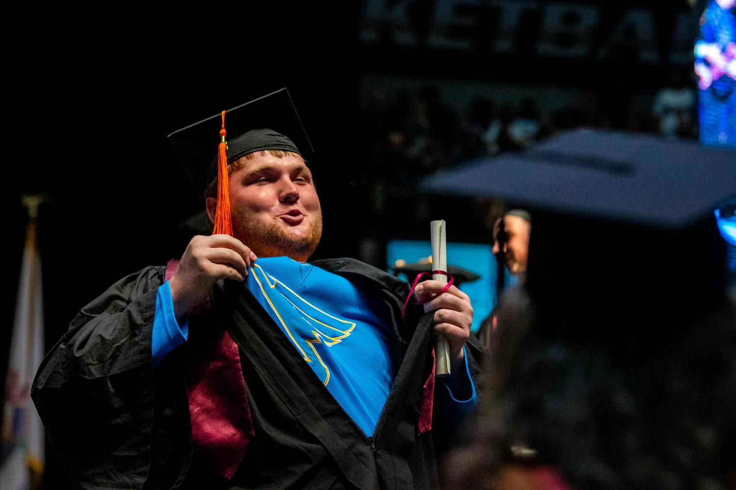 %22Let%27s+go+Blues%22+says+Zachary+Bormida+after+receiving+his+diploma+on+Saturday%2C+May+11%2C+2019+during+the+2019+commencement+inside+the+SIU+Arena.+Bormida+graduated+with+a+bachelors+in+Automotive+Technology