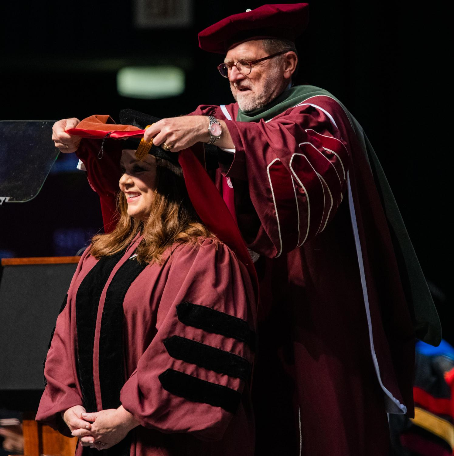 Academy+Award+nominee%2C+Emmy+Award-winning+actress+Melissa+McCarthy+receives+an+honorary+doctorate+of+performing+arts+degree+from+Interim+Chancellor+John+Dunn%0Aon+Saturday%2C+May+11%2C+2019+during+the+2019+commencement+inside+the+SIU+Arena.+