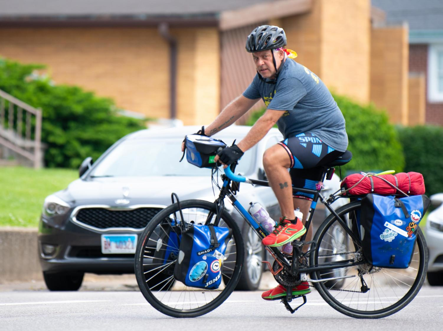 Rob Freed pulls out of Home2 Suites on Saturday, May 25, 2019 on Elm Street in Carbondale, Illinois.