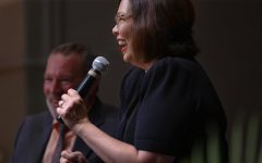 Senator Duckworth speaks to community members at town hall