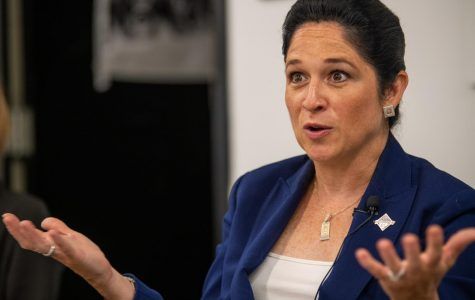 Illinois Comptroller Susana Mendoza talks with the Daily Egyptian Editorial Board on Friday, Aug. 23, 2019 inside the Communications building.