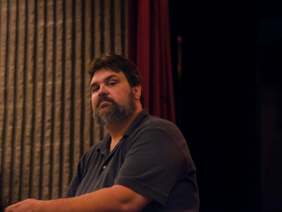 Jason Hendrick working on rehearsals for