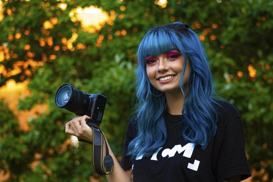 The first female president of Movie Camera Movement Victoria Kuball poses for a portrait on Monday, Sept. 2, 2019 outside of the Communications Building.