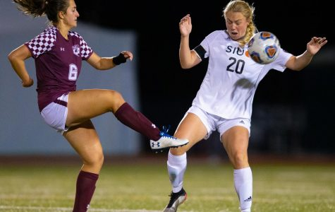 Bretchel's Three Goal Performance Leads Salukis To Victory Over CBU