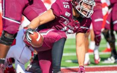 Salukis win fifth straight game, become playoff eligible