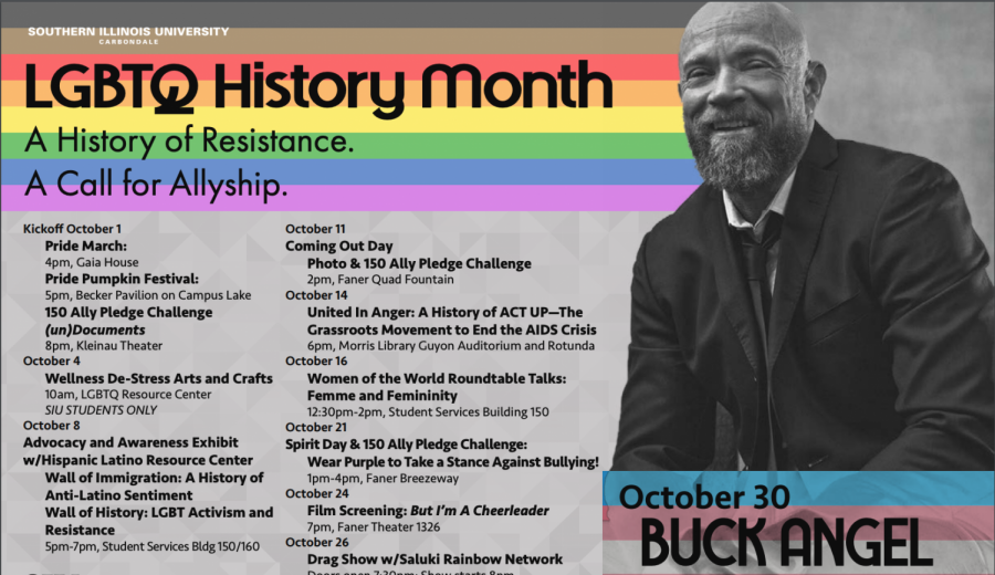 SIU's 2019 LGBTQ history month calendar. Photo courtesy of SIU's LGBTQ Resource Center.