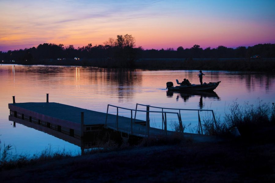 Photo of the day: Cotton candy sky over Crab Orchard Lake