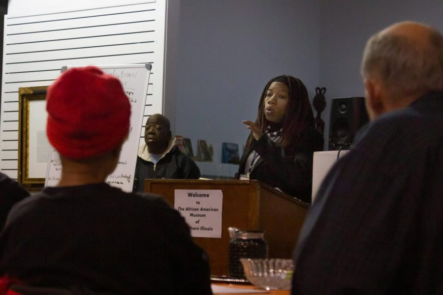 The community of Carbondale held a meeting discussing topics such as Carbondale shootings and how the community can get more involved with the youth. The meeting was held at the African American Museum at the Carbondale University Mall on Thursday, Nov. 14 2019.