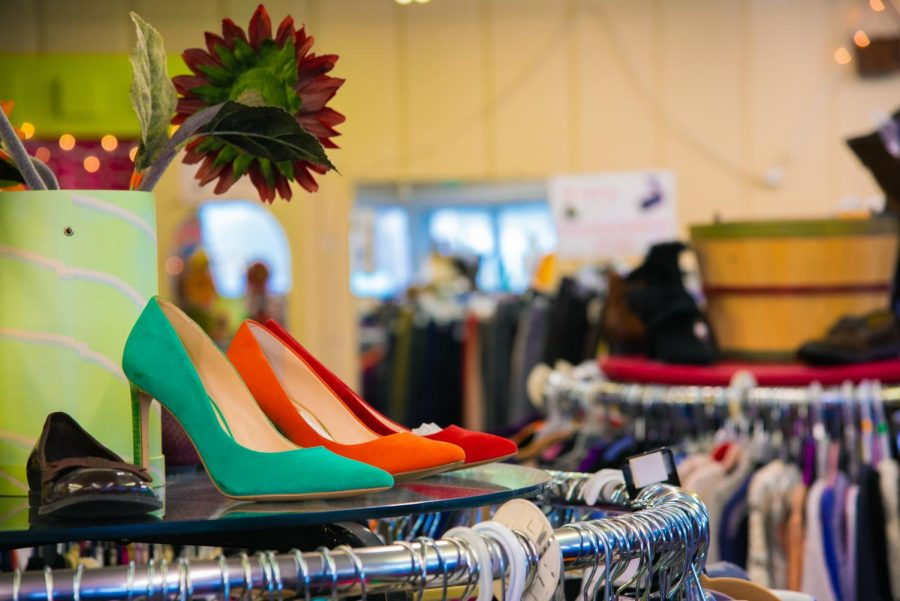 Jane's Consignment offers a variety of women's clothing and even shoes on Wednesday, Oct. 30, 2019 in Carbondale, Illinois.