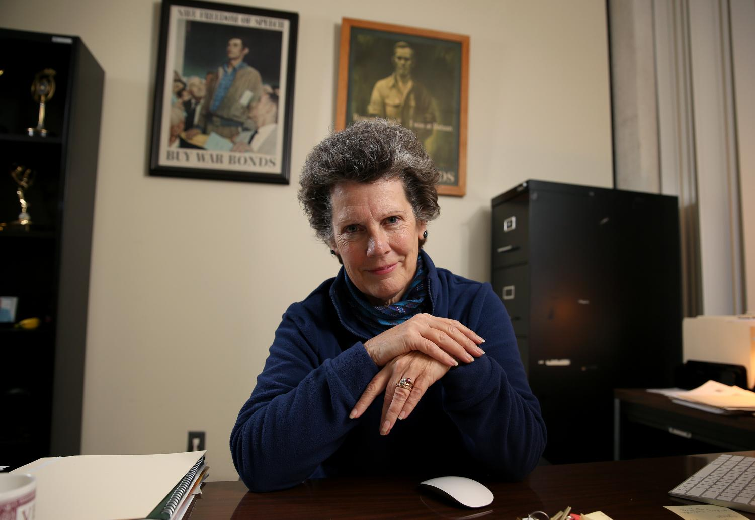 Janice Thompson, Director of the Journalism Department, in her office on Monday, January 13, 2020, at the Southern Illinois University campus, Carbondale, Illinois.