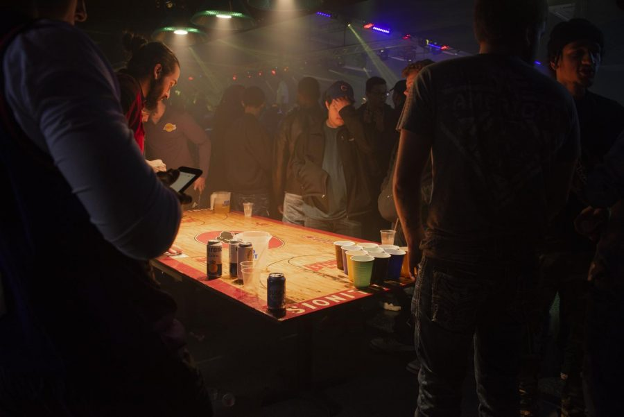 Patrons play beer pong at Levels'