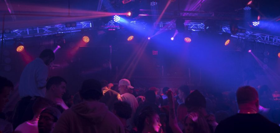 Patrons party and dance at Levels'