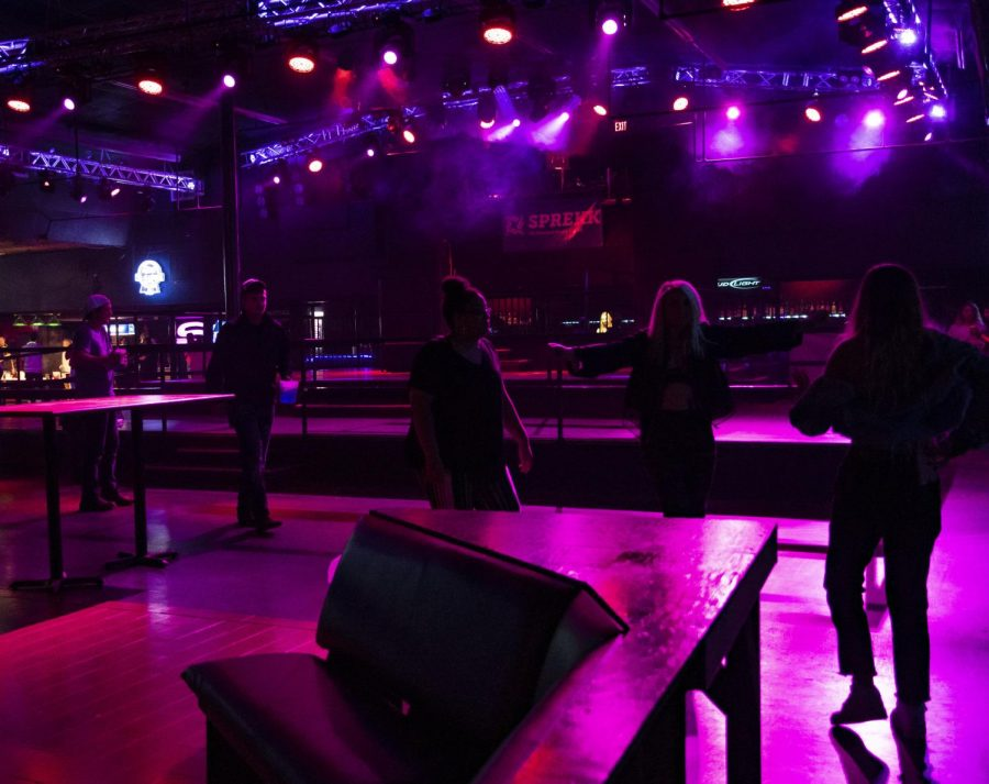 Patrons enter Levels shortly after 8 p.m. on Saturday, Jan. 25 in Carbondale. Levels hosted a