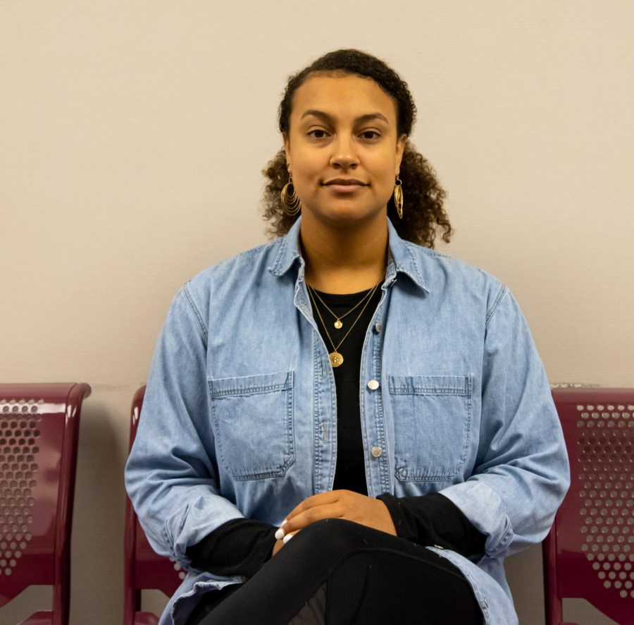 Portrait of Phynix Huhn-Simmons, the  Vice President for Undergraduate Student Government who is working on a task force for resident assistants on Wednesday, Jan. 29, 2020 at the Communication Building at SIU.