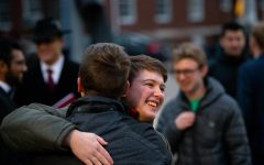 Sweetheart serenade: Phi Mu Alpha performs for newly engaged couple