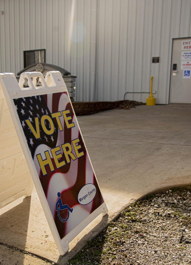 Local polling stations across hold voting for the Presidential Primary Election on Tuesday, Mar. 17, 2020 in Waverly, IL.