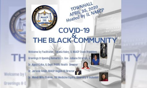 Flier for NAACP COVID-19 town hall held on April 25, 2020.