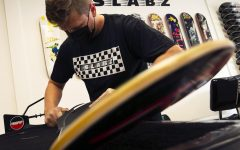 Located at 606 South Illinois Avenue, Slabz is a brand-new skate shop in Carbondale and is the newest edition the strip has to offer. They offer a variety of services and products related to the skating hobby, big smiles, and friendly advice. Owner of Slabz, Austin Sears (pictured) is an avid skating enthusiast experienced with skateboard repairs and modifications. Slabz offers their services Monday-Friday from 10am-6pm, and on Saturdays from 10am-2pm.  Sept. 9, 2020.