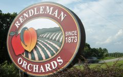 A car passes behind the Rendleman's Orchard sign located on Illinois Route 127 in Alto Pass on Sept. 12. Rendleman's offers flower fields to walk through, goats and chickens to pet and apples for sale through the fall season.