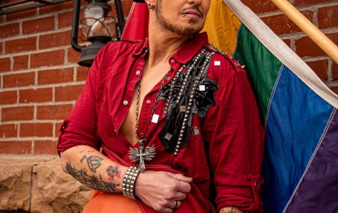 Drag king performer, Faim Lee Jewls, sits for a portrait on Wednesday, Sept. 23, 2020 in Murphysboro, IL. Jewls, the lone drag king in the southern Illinois region, says he is celebrating his 15th year as a drag king.