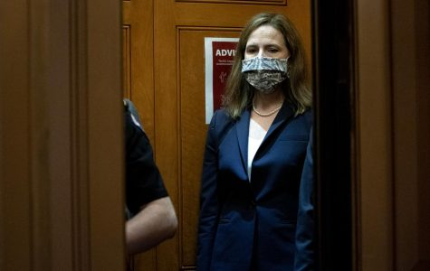 Supreme Court nominee Judge Amy Coney Barrett departs the U.S. Capitol on October 21, 2020 in Washington, DC. President Donald Trump nominated Barrett to replace Justice Ruth Bader Ginsburg after Ginsburg's death.