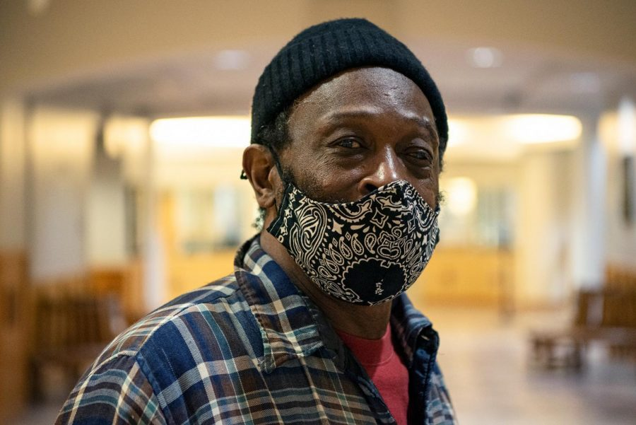 Voter Percy Wallace poses for his headshot Tuesday, November 3, 2020, in Carbondale, Ill. Wallace waited for over an hour to place his vote, as the non-registered applicant voting machines were in disrepair when the polling location opened.