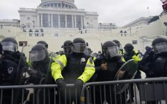 WASHINGTON, DC - JANUARY 06: Police try to hold back protesters who gather to storm the Capitol and halt a joint session of the 117th Congress on Wednesday, Jan. 6, 2021, in Washington, D.C. (Kent Nishimura/Los Angeles Times/Tribune News Service)