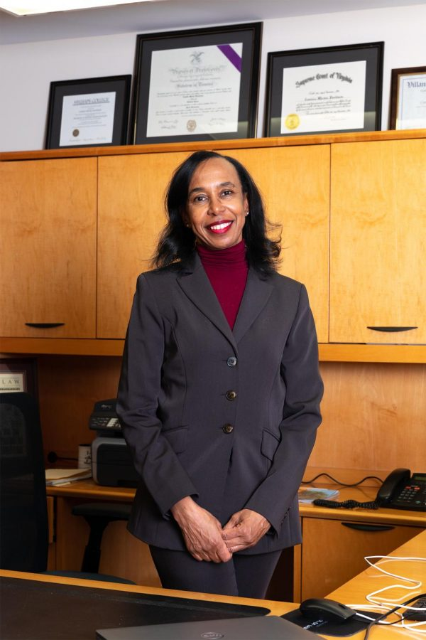 Camille Davidson, the first Black female Dean at the SIU School of Law, poses for a portrait Feb. 22, 2021, at the SIU School of Law in Carbondale, Ill.