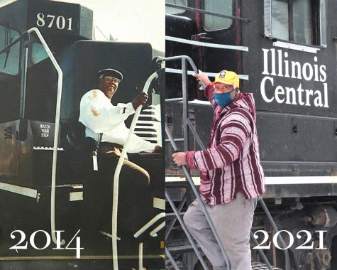 "Retired railroad fireman and engineer, Milton McDaniel, began his 50 year long career in 1967 and became the first African American fireman and engineer north of the Ohio River. According to McDaniel, the photo on the left was taken prior to retiring in 2014. ""It was a struggle, but I wanted to let other people know, other young men, know no matter what they wanted to do in life, don't let nothing turn you around,"" said McDaniel."
